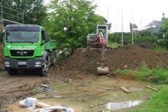 Bodenabfuhr beim Bau der LifeNess Aussensauna