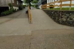 Hoffläche mit Rampe