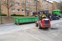 Abfuhr mit eigenen Container