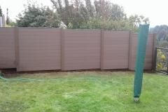 WPC Zaun als Sichtschutz